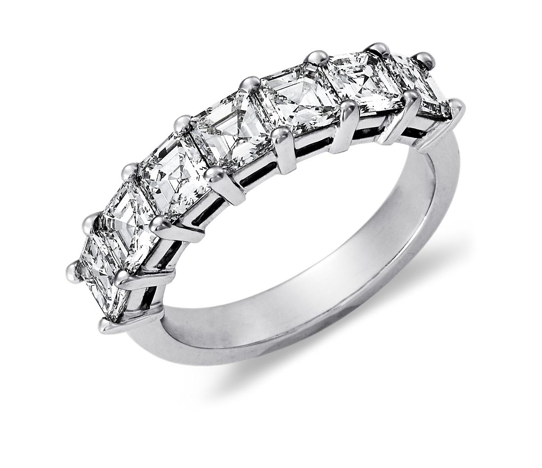 Classic Seven Stone Asscher Cut Diamond Ring in Platinum (2 ct. tw.)