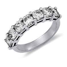Classic Cushion-Cut Seven Stone Diamond Ring in Platinum (2 ct. tw.)