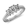 Three Stone Emerald Cut Diamond Ring in Platinum (1 ct. tw.)