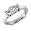 Three Stone Radiant Cut Diamond Ring in Platinum (1 ct. tw.)