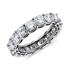 Cushion-Cut Diamond Eternity Ring in Platinum (5 ct. tw.)