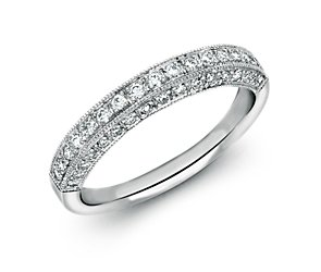 Heirloom Pavé Diamond Ring in Platinum (3/8 ct. tw.)