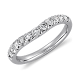 Curved Pavé Diamond Ring in Platinum (1/2 ct. tw.)