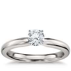 Classic Comfort Fit Engagement Ring in Platinum (2.5mm)