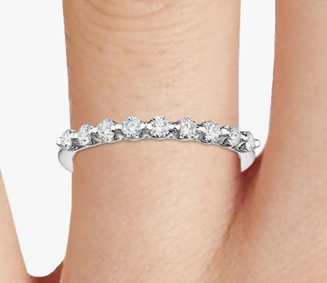 Classic Floating Diamond Ring in 18k White Gold (1/3 ct. tw.)