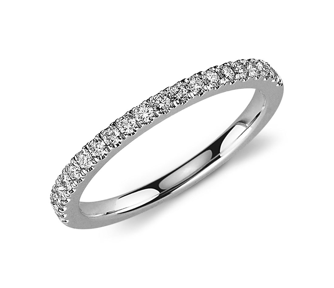 pav 233 ring in 18k white gold 1 3 ct tw
