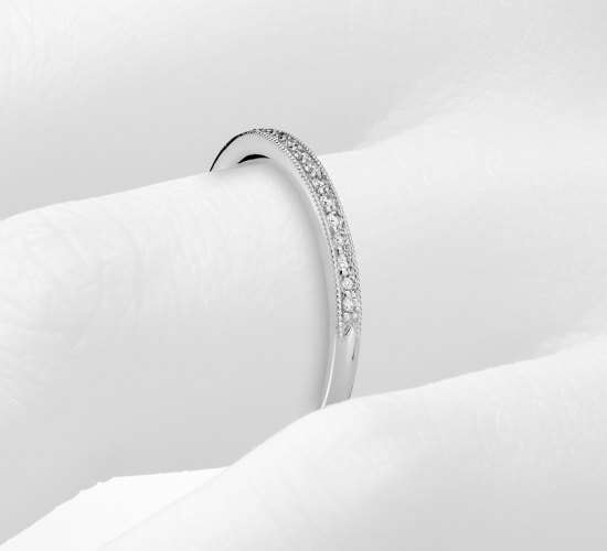 Heirloom Petite Pavé Diamond Ring in 14K White Gold (1/8 ct. tw.)