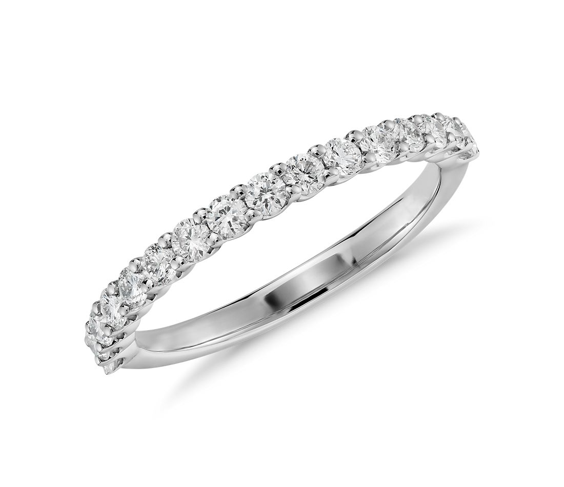 U-Prong Diamond Ring in 14K White Gold (1/3 ct. tw.)
