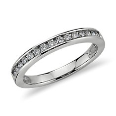 Channel Set Diamond Ring in 18k White Gold (1/4 ct. tw.)
