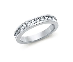 Channel Set Diamond Ring in 18k White Gold (1/2 ct. tw.)