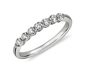 Micropavé Crown Diamond Ring in 18k White Gold (1/2 ct. tw.)
