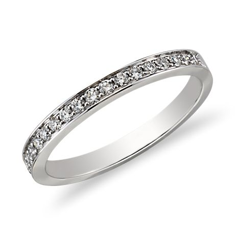 Bague en diamants sertis pavé cathédrale en Or blanc 18 ct
