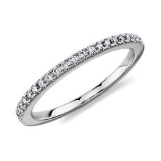 Micropavé Diamond Ring in 14K White Gold (1/6 ct. tw.)