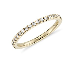 Petite Pave Diamond Ring in 18k Yellow Gold (1/3 ct. tw.)