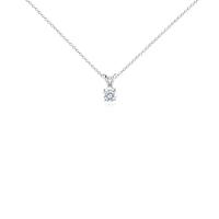 Pendentif solitaire diamant en or blanc 14carats (3/4carat, poids total)