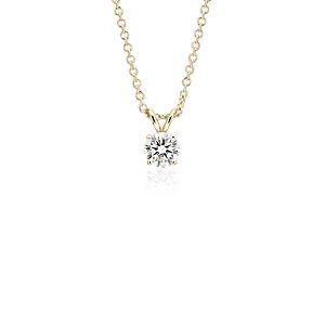 NOUVEAU Or jaune 14carats Pendentif diamant sertissure à quatre griffes