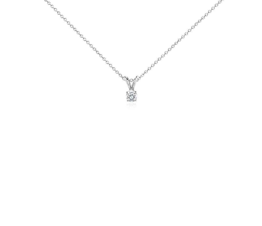 Diamond Solitaire Pendant in Platinum (1/3 ct. tw.)