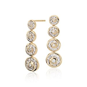 Pendants d'oreilles en Diamant Blue Nile Studio en spirale en or jaune 18carats (5/8carat, poids total)