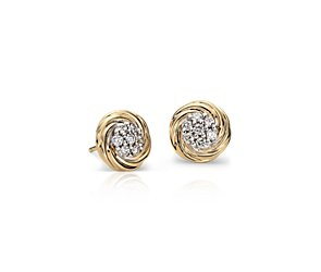 Blue Nile Studio Diamond Cluster Earring in 18k Yellow Gold