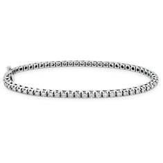 Bracelet tennis diamants en Or blanc 14 ct (2 carats, poids total)