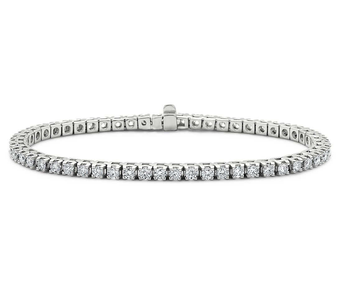 Diamond Tennis Bracelet in 14k White Gold (3 ct. tw ...