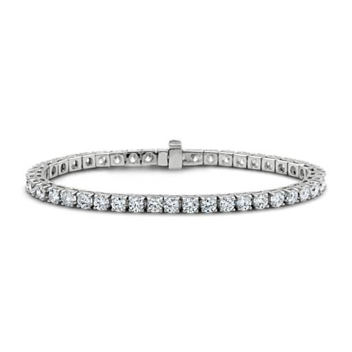 Bracelet tennis diamants en or blanc 14 carats (7 carats, poids total)