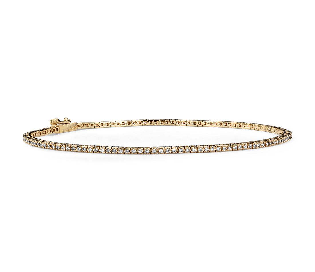 Mini Diamond Tennis Bracelet in 14k Yellow Gold (5/8 ct. tw.)
