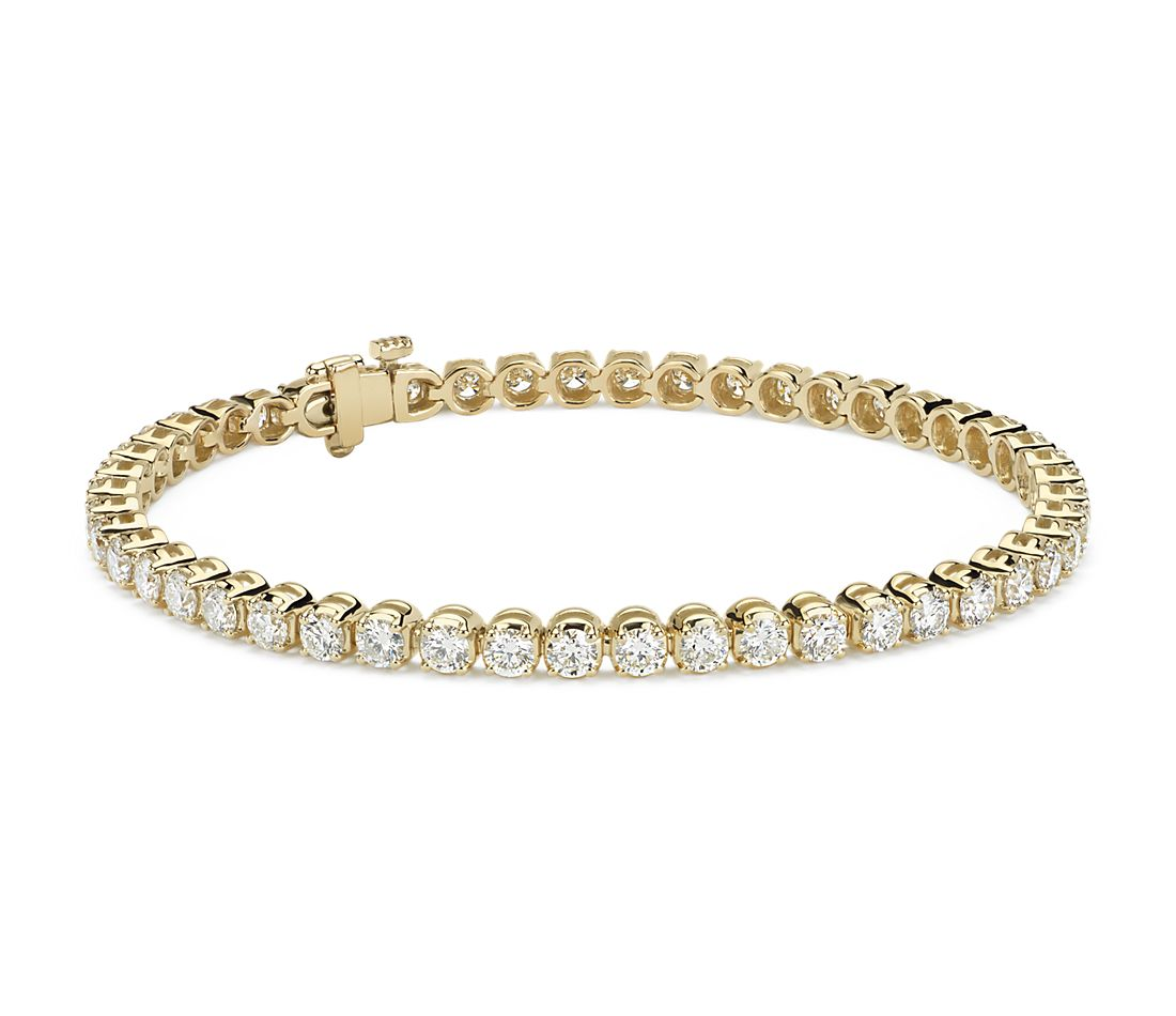 Diamond Tennis Bracelet in 18k Yellow Gold (5 ct. tw ...
