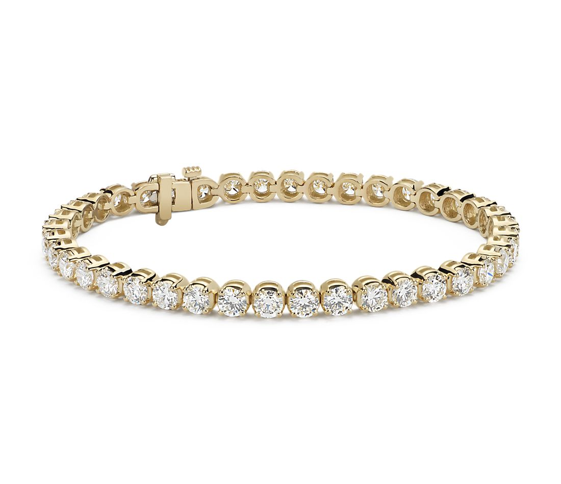 Diamond Tennis Bracelet 18k Yellow Gold (10 ct. tw ...