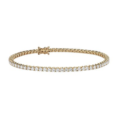 NEW Bracelet tennis diamants in Or jaune 18 carats - F / VS