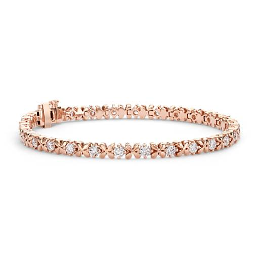 Blue Nile Studio Rose Petal Diamond Bracelet in 18k Rose Gold
