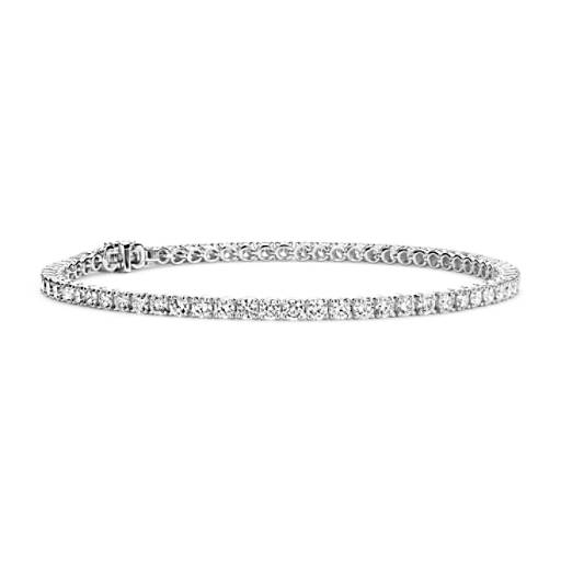 NOUVEAU Bracelet tennis diamants en or blanc 18 carats - F / VS2