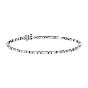 NOUVEAU Bracelet tennis diamants en or blanc 18 carats