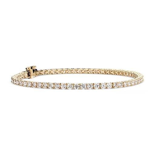 NEW Diamond Tennis Bracelet in 18k Yellow Gold - F / VS2