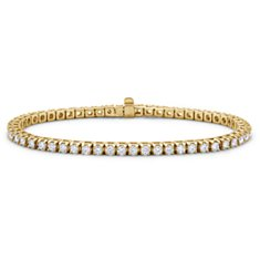 Bracelet tennis diamants en Or jaune 18 ct (3 carats, poids total)