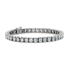 Bracelet tennis diamants en Or blanc 14 ct (10 carats, poids total)