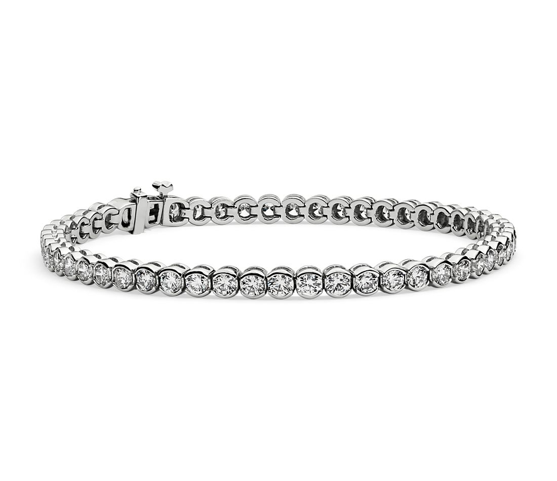 Diamond Bezel-Set Tennis Bracelet in 14k White Gold (3.10 ct. tw.)