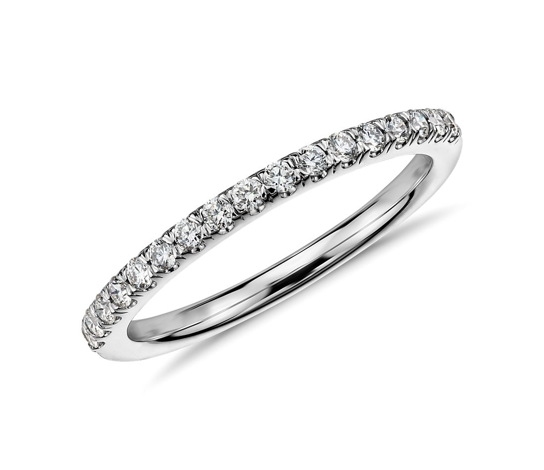Pave Diamond Ring in 14k White Gold 1/4 ct. tw.