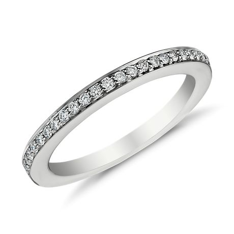 Bague diamants sertis pavé en Or blanc 18 ct