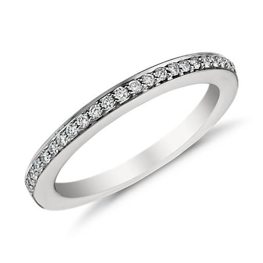 Bague en diamants sertis pavé en platine (1/6carat, poids total)