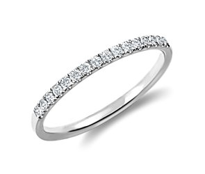 Pavé Diamond Ring in Platinum