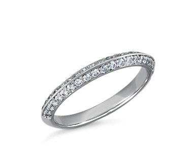 Duet Pav© Diamond Ring in Platinum (1/3 ct. tw.)