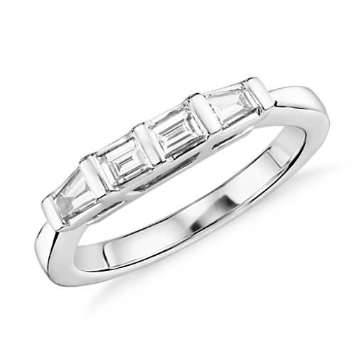 Baguette Diamond Wedding Ring in 14k White Gold (1/3 ct. tw.)
