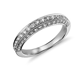 Heirloom Pavé Diamond Ring in 18k White Gold (3/8 ct. tw.)