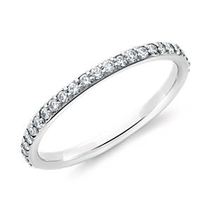 Pavé Diamond Eternity Ring in 18k White Gold