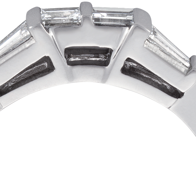 Baguette Diamond Wedding Ring in 14k White Gold (1/3 ct. tw.)