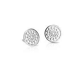 Dotted Stud Earrings in Sterling Silver