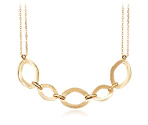 Double Chain Oval Link Necklace in 14k Yellow Gold