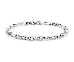 Double Link Bracelet in Sterling Silver