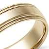 Double Milgrain Comfort Fit Wedding Ring in 14k Yellow Gold (6mm)
